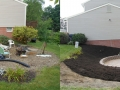 Landscaping Mulch Garden Before and After