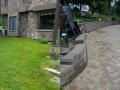 Stone Paved Patio Before and After