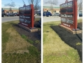 Before and After Commercial Mulch Job