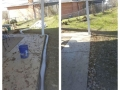 Before and After French Drain