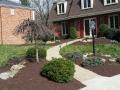 Beautiful Front Yard Landscaping with Mulch