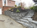 Hardscaping Rock Wall with Staircase