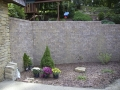 Hardscaping Retaining Wall with Rock Garden
