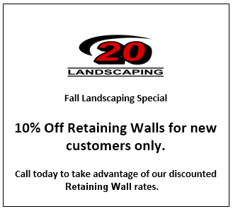 10 Percent Off Retaining Walls for New Customers